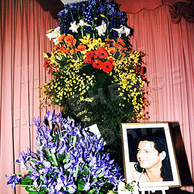Floral arrangement from INXS